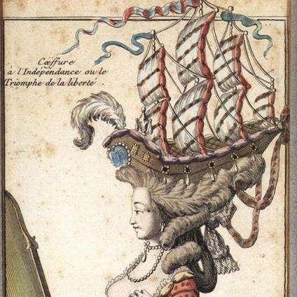 戴假髮的宮廷女性,被戲稱為「移動的花園」(圖/網易女人網)