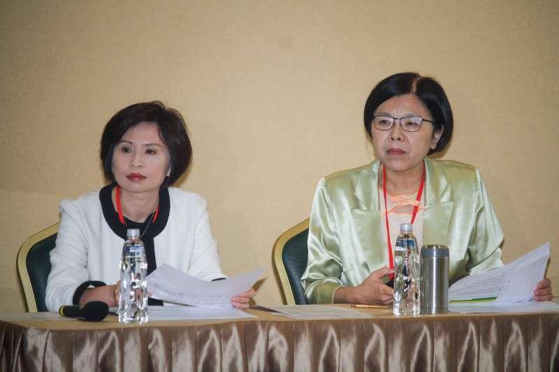 20190620-黨產會於20日舉行「中廣案」聽證會,右為副主任委員施錦芳,左為林詩梅委員。(蔡親傑攝)