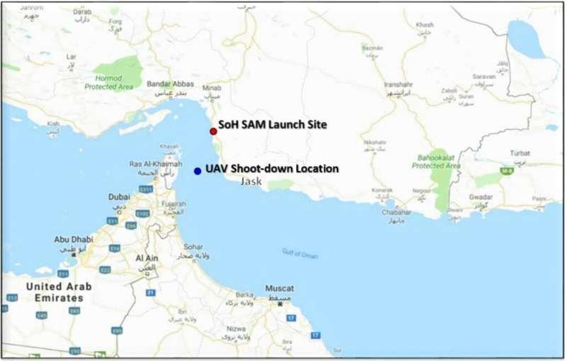 美國國防部指出,「全球之鷹」(RQ-4, Global Hawk)無人偵查機遭擊落的位置在公海。(AP)