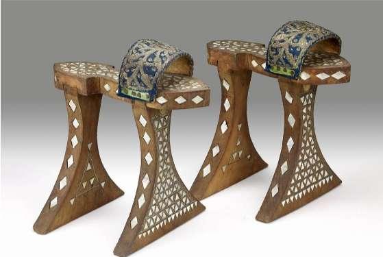 貝母裝飾的nalın。(圖/作者提供)