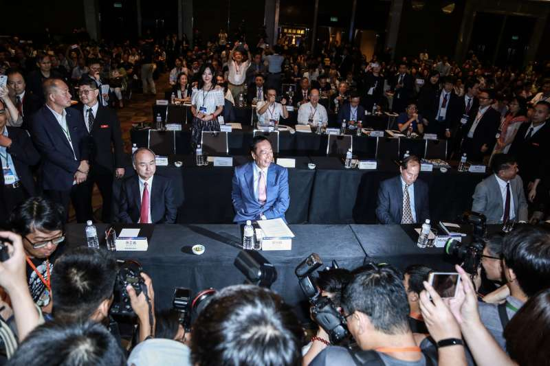 20190622-郭台銘22日出席DIGITIMES全球產業秩序的解構與創新論壇。(簡必丞攝)