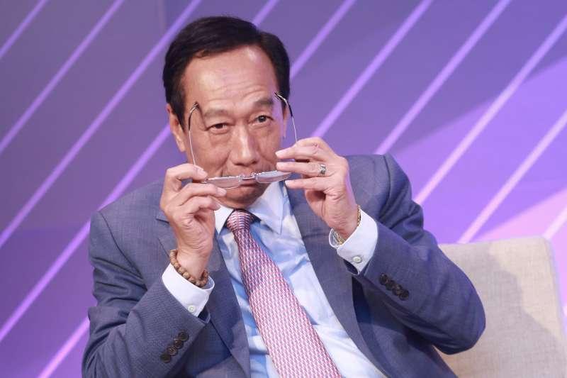 20190622-前鴻海董事長郭台銘22日出席DIGITIMES全球產業秩序的解構與創新論壇。(簡必丞攝)