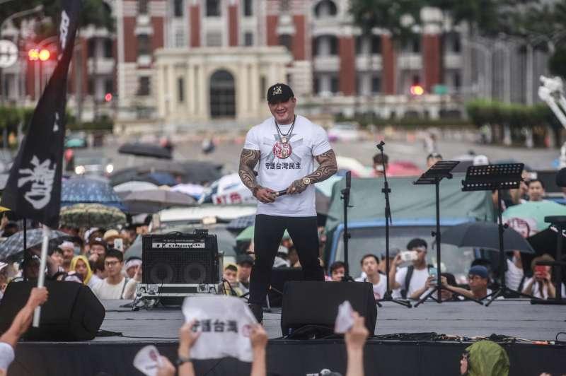 20190623-館長陳之漢23日舉辦「拒絕紅色媒體、守護台灣民主」。(簡必丞攝)