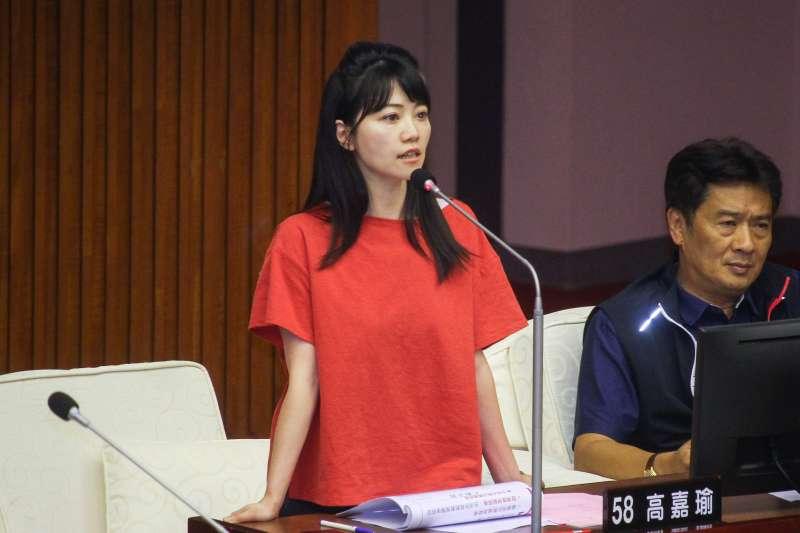 20190624-台北市議員高嘉瑜24日於市議會對市長進行質詢。(蔡親傑攝)