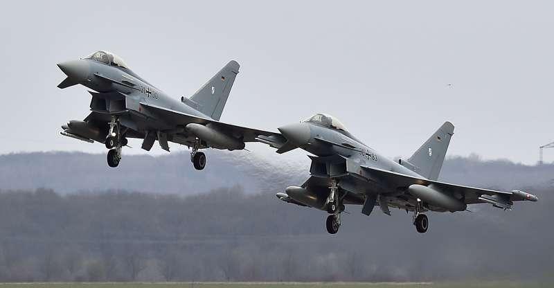 德國空軍「颱風」(Eurofighter Typhoon)戰鬥機(AP)