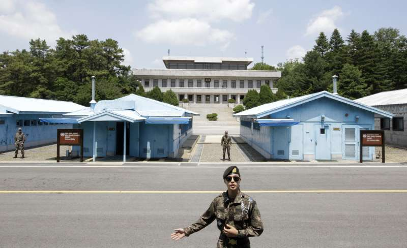 兩韓交界38度線的板門店非軍事區(DMZ)(AP)