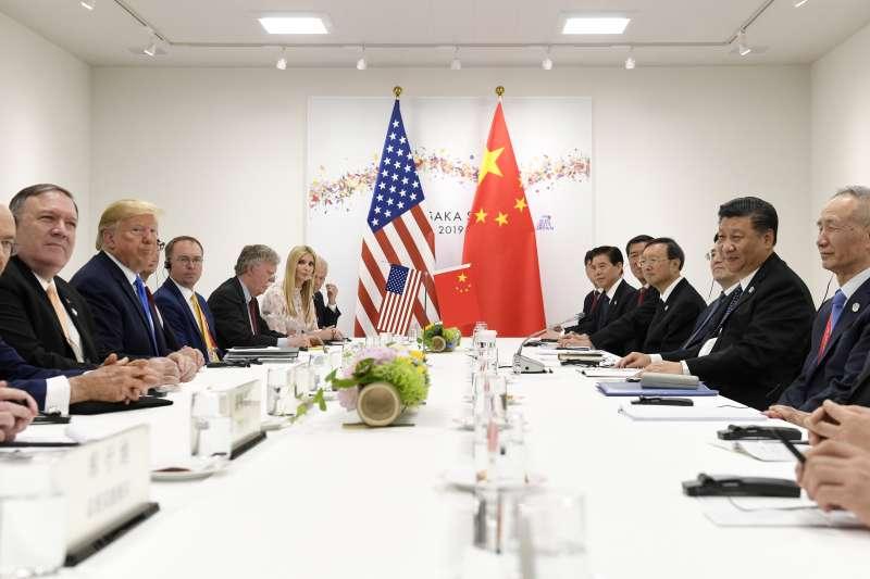 2019年6月29日,日本大阪二十國集團(G20)領導人峰會,大阪川習會,美國總統川普與中國國家主席習近平舉行雙邊會談(AP)