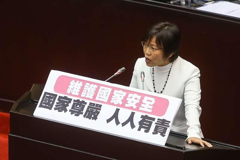 20190703-民進黨立委劉世芳3日針對「兩岸人民關係條例」修法發言。(顏麟宇攝)