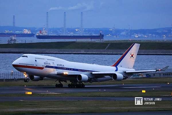 大韓民國空軍所屬的行政專機,使用機型為波音747-400。(圖/陳威臣攝,想想論壇提供)