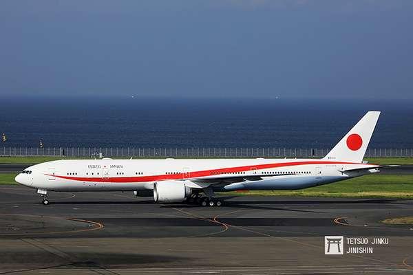 日本國第二代行政專機,使用波音777-300ER。(圖/陳威臣攝,想想論壇提供)