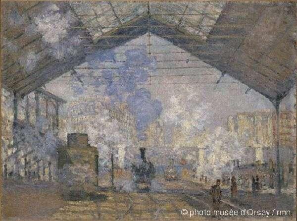 莫內,《聖拉查火車站》,1877年,收藏於奧塞美術館。