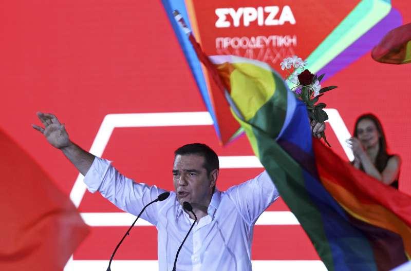 2019年7月7日,希臘舉行國會選舉,希臘總理齊普拉斯(Alexis Tsipras)承認敗選。(AP)