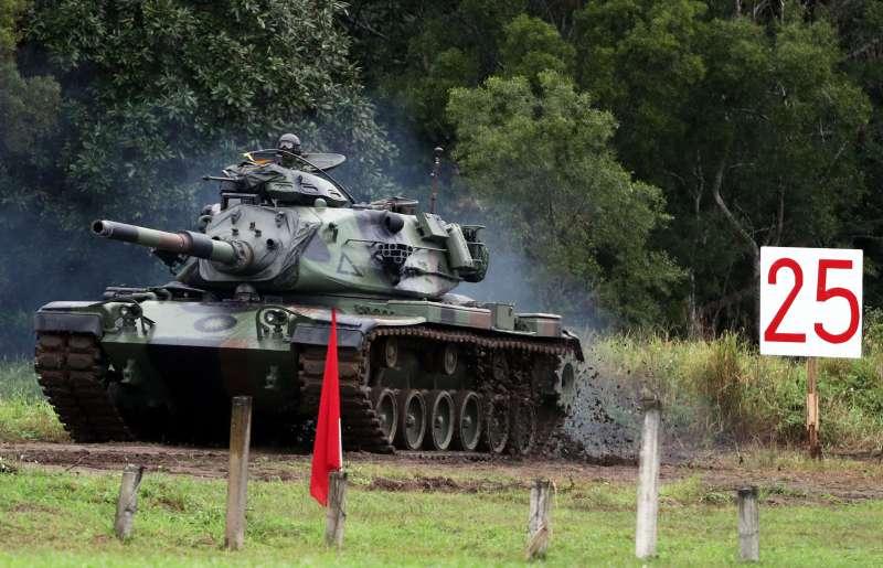 20190709-陸軍、海軍陸戰隊使用的M60A3戰車是90年代國際局勢丕變下,輾轉自美軍接收而來,雖是二手卻也是一款成熟的戰車。(蘇仲泓攝)