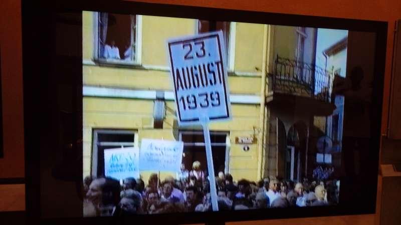 波海之鏈,源於抗議1939年8月23日簽署的德蘇互不侵犯條約。(圖/謝幸吟提供)