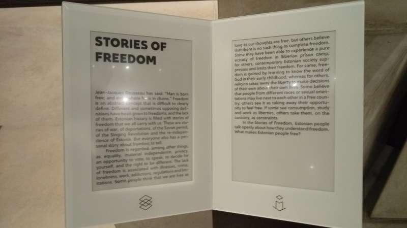 愛沙尼亞國家博物館文資--自由的故事。(圖/謝幸吟提供)