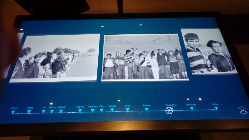 1989年8月23日波海之鏈,現代科技重現當年場景。(圖/謝幸吟提供)