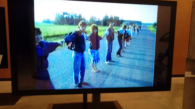 愛沙尼亞國家博物館,收藏電視報導紀錄823波海之鏈。(圖/謝幸吟提供)