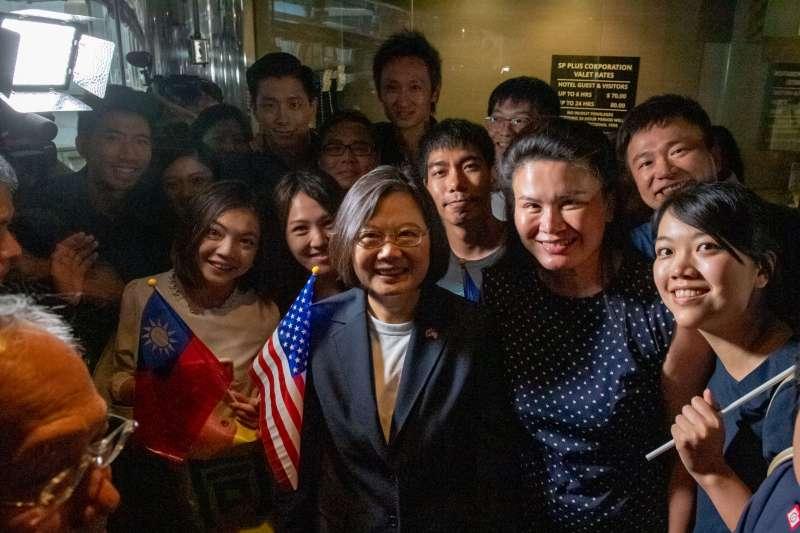 2019年7月11日,蔡英文總統「自由民主永續之旅」抵達紐約(總統府)
