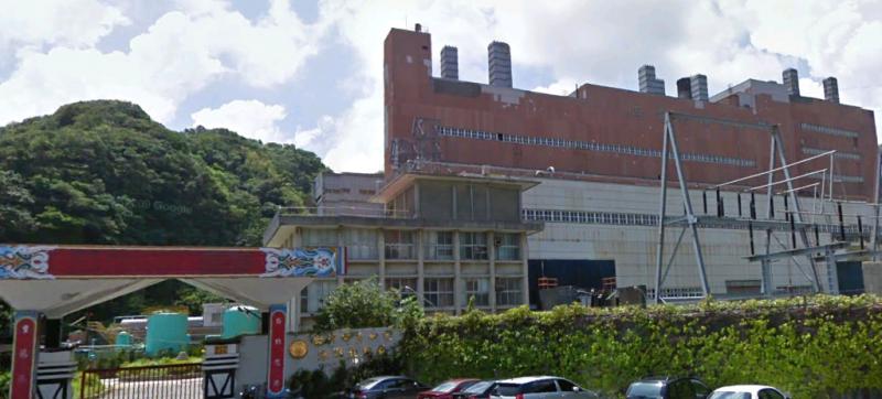 已拆除的深澳發電廠舊廠房。深澳電廠。(取自維基百科)