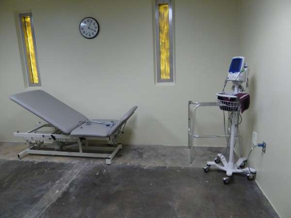 關塔那摩灣囚犯專用的物理治療室。(圖/*CUP提供)