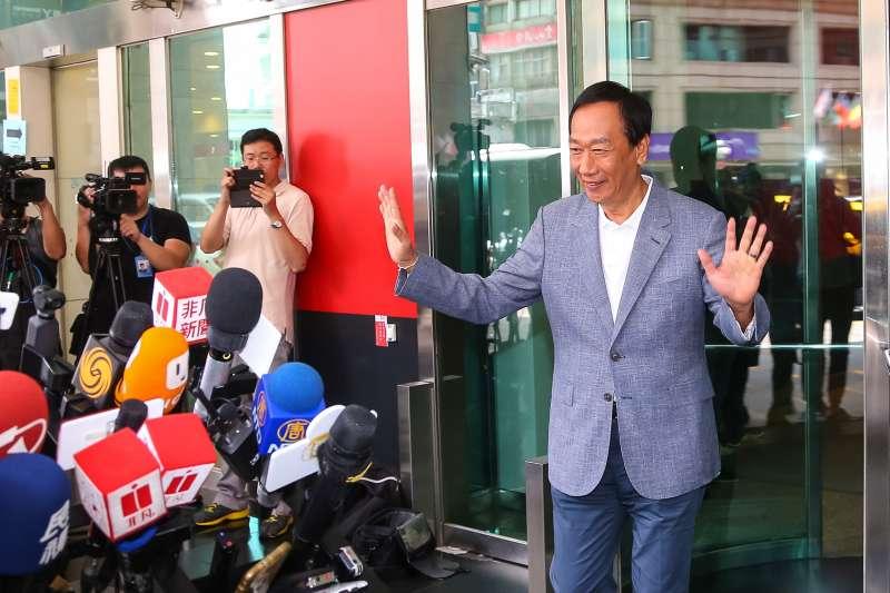 20190712-國民黨總統初選參選人郭台銘12日接受媒體聯訪。(顏麟宇攝)