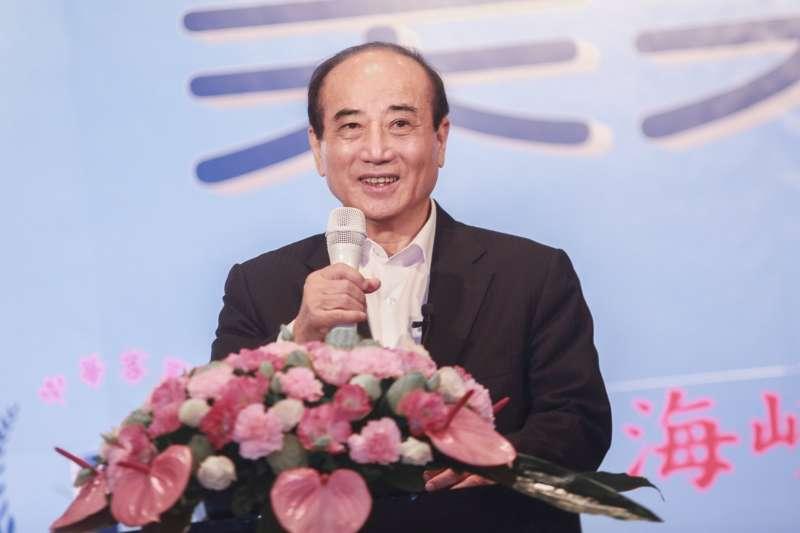 20190712-前立法院長王金平12日參加客家團結感恩餐會。(簡必丞攝)