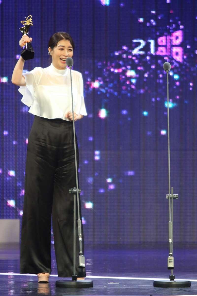 20190713-第21屆台北電影節最佳女配角獎由黃嘉千以《老大人》封后。(台北電影節提供)