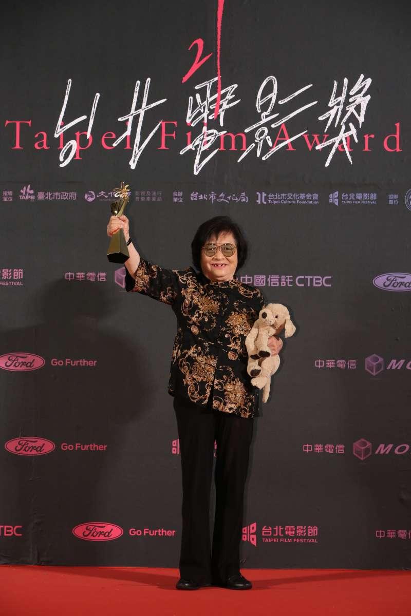 20190713-第21屆台北電影節最佳女主角獎:《帶媽媽出去玩》劉引商。(台北電影節提供)