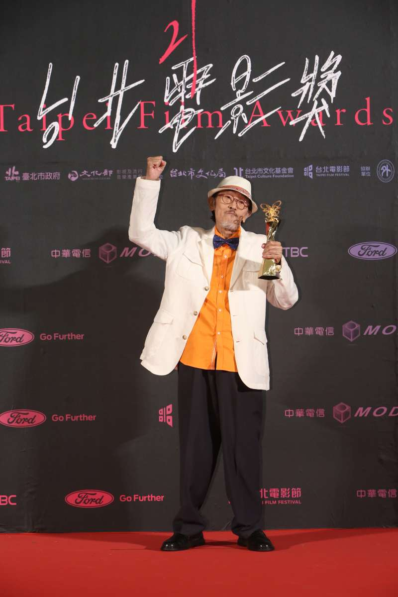 20190713-第21屆台北電影節最佳男主角獎:《老大人》小戽斗。(台北電影節提供)