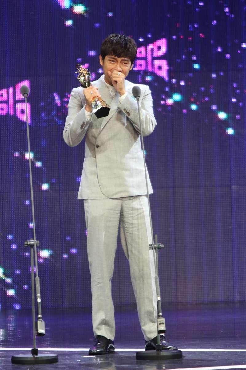 20190713-第21屆台北電影獎今晚頒獎,被譽為「死亡之組」的最佳男配角獎,最後由林鶴軒以《切小金家的旅館》突圍獲獎。(台北電影節提供)