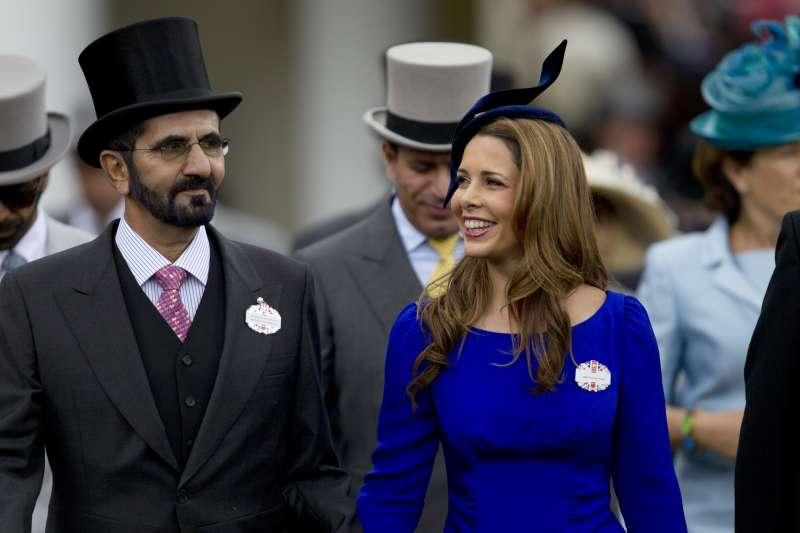 阿拉伯聯合大公國副總統兼總理、杜拜酋長穆罕默德與妻子哈雅公主。(AP)