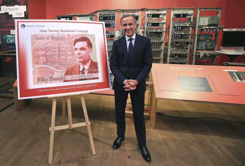 英國天才數學家、「電腦之父」圖靈將登上50英鎊塑膠新鈔 (美聯社)