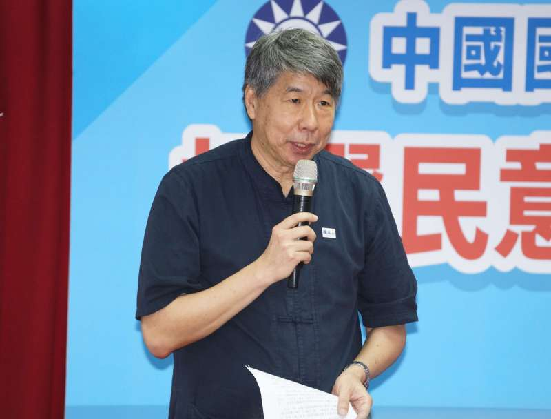 20190715-國民黨總統初選結果公佈記者會,張亞中出席。(盧逸峰攝)