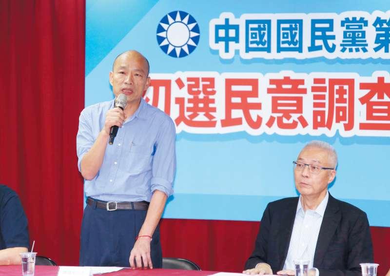 只要柯文哲參選,挺郭選民投給柯P的機率,將遠高於投給韓國瑜(左)。(郭晉瑋攝)