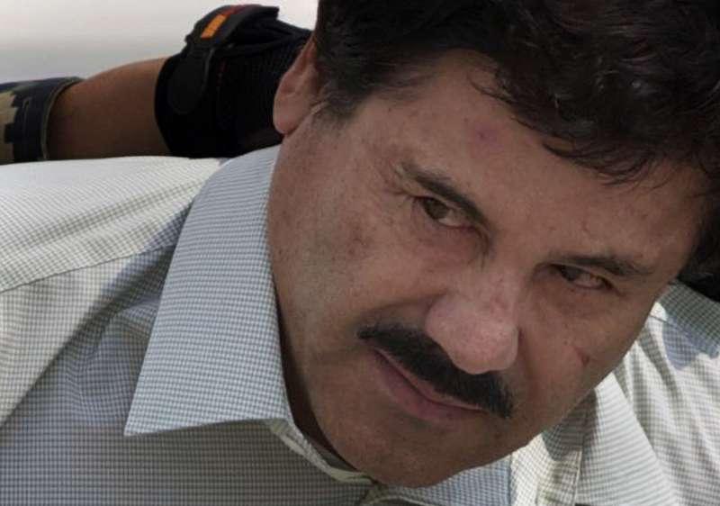 """2019年7月17日,墨西哥裔的全球頭號毒梟「矮子」古茲曼(Joaquín """"El Chapo"""" Guzmán)在美國遭判無期徒刑(AP)"""