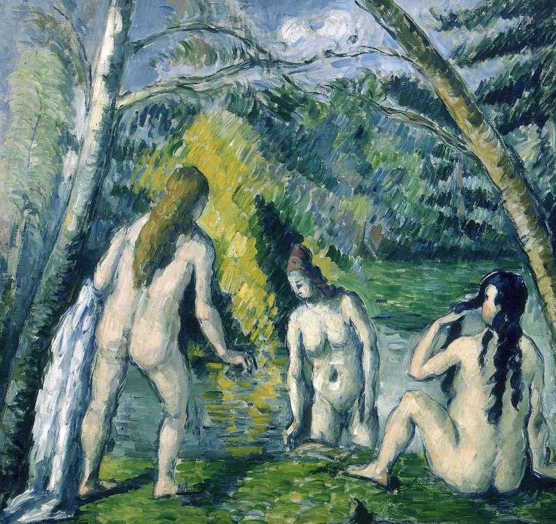 馬蒂斯收藏的塞尚畫作《三位洗浴者》,1879-1882年,藏於小皇宮美術館。(作者林意凡提供)