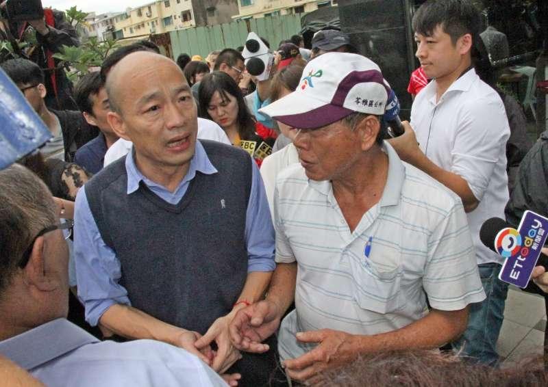 2019年7月20日,高雄市長韓國瑜勘查水災災情(高雄市政府)