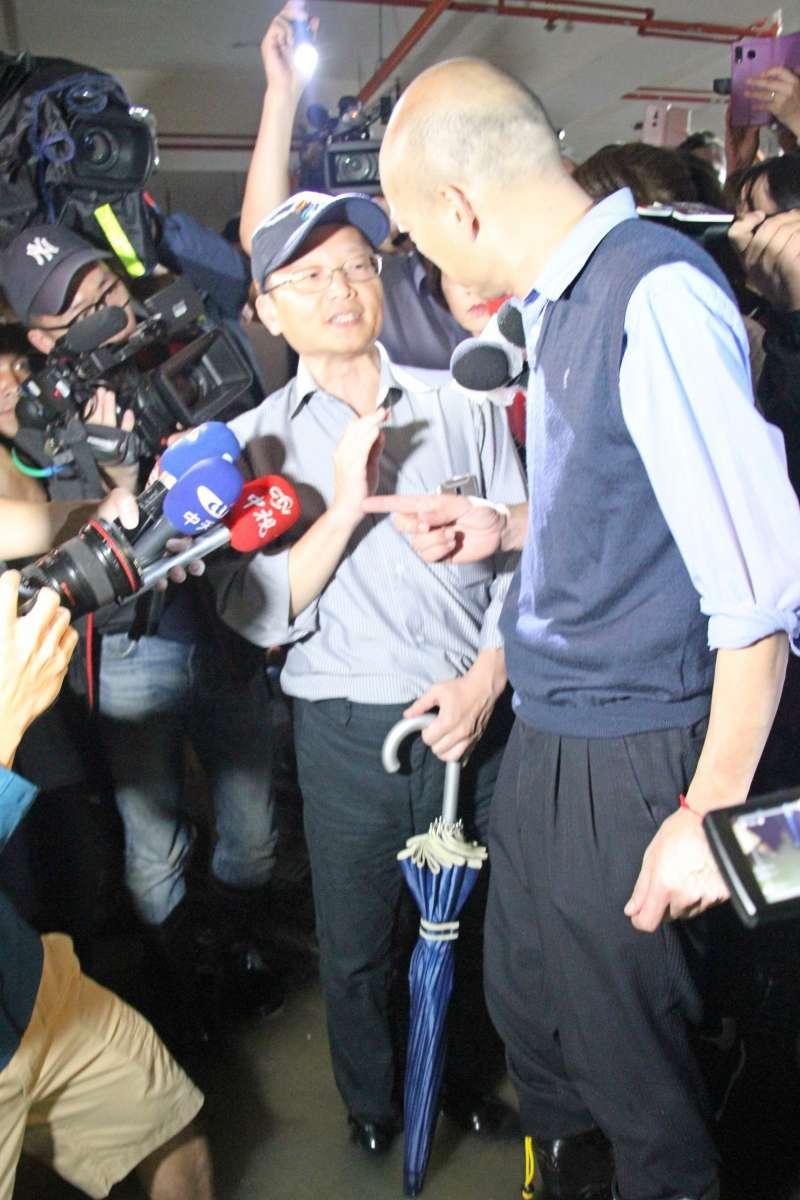 2019年7月20日,高雄市長韓國瑜勘查豪雨水災災情(高雄市政府)