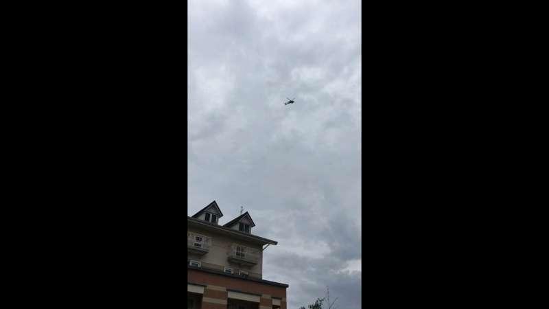 2019年7月20日,高雄市長韓國瑜雲林豪華農舍上空出現直升機(臉書截圖)