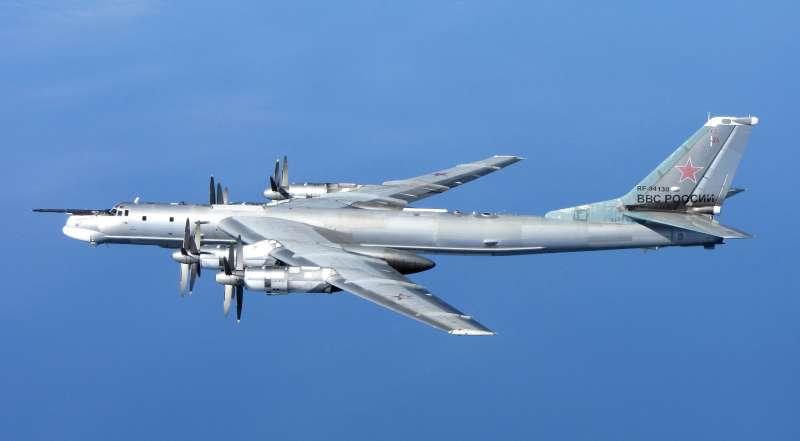 俄羅斯空軍圖─95(TU-95)轟炸機(RAF/MOD@Wikipedia / OGL v1.0)