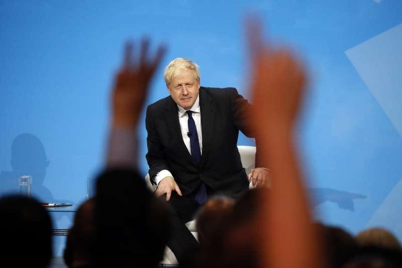 英國新任首相強森。(AP)