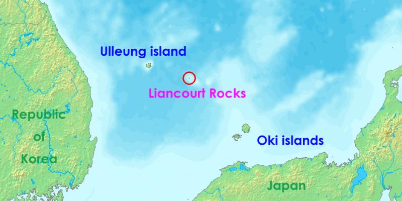 南韓與日本之間有主權爭議的獨島(竹島)(Wikipedia / Public Domain)