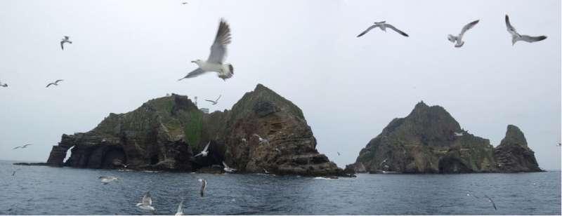 南韓與日本之間有主權爭議的獨島(竹島)(머찐만두@Wikipedia / CC BY-SA 2.0 kr)