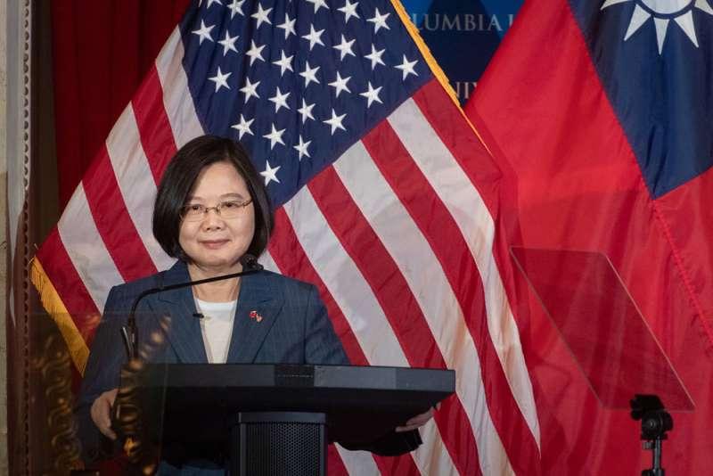 華府對蔡英文總統訪問倍加禮遇,給藍營不少危機感。(總統府提供)