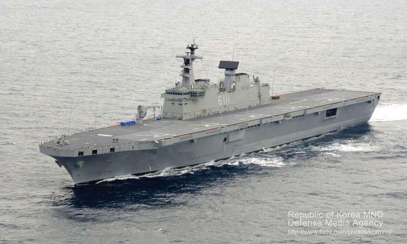 南韓「獨島號」兩棲突擊艦。(해군 독도함@flickr/CC BY-SA 2.0)