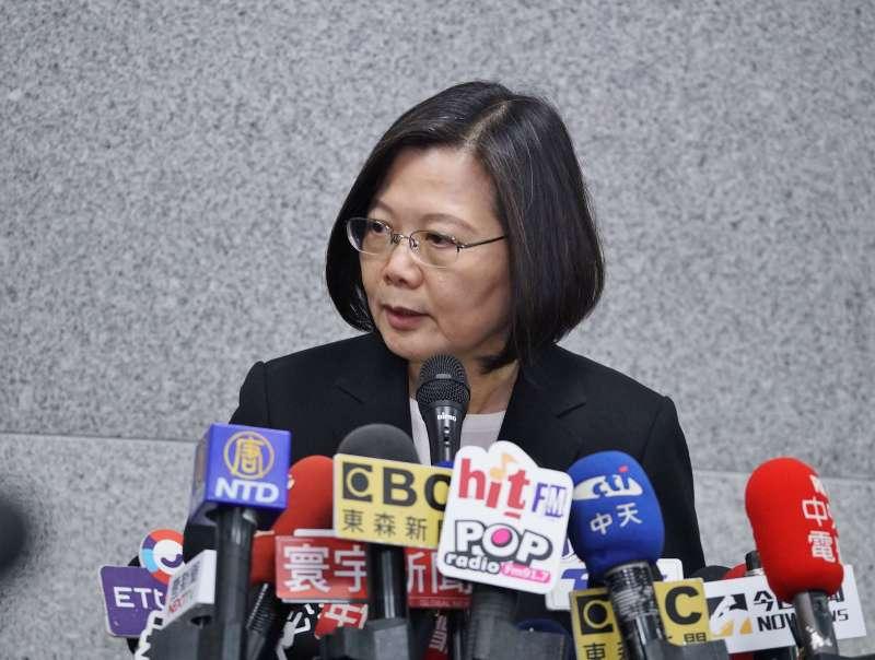 20190725-總統蔡英文出席亞洲生技大會開幕典禮並受訪。(盧逸峰攝)