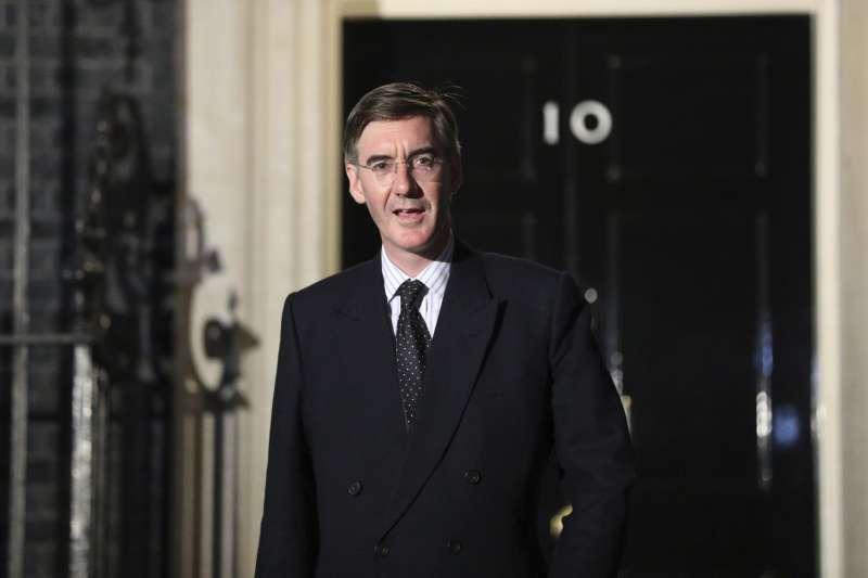 英國「硬脫歐派」大將里斯莫格(Jacob Rees-Mogg)出任下議院領袖(美聯社)
