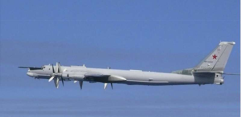 中俄軍機闖入日韓爭議的獨島(竹島)領空,圖為俄羅斯圖-95轟炸機(AP)