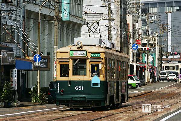 1942年製的651號車,是廣島原爆的被爆電車之一,修復之後行駛至今,依然健在。(圖/作者提供)