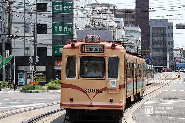 接收至西日本鐵道的廣電3000形,圖中的3008號車,在今年4月退役。(圖/作者提供)